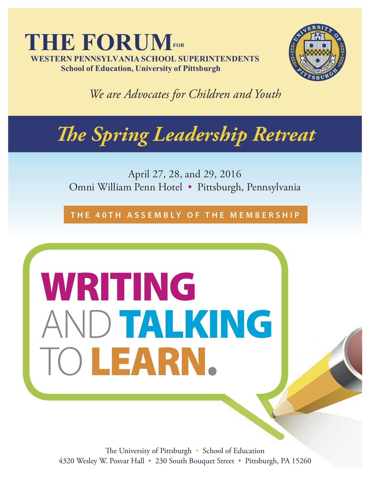 Forum Spring 2016 Program